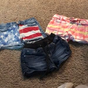 Festive Jean Shorts